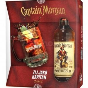 Captain Morgan Spiced Gold + korbel 0,7l 35% GB