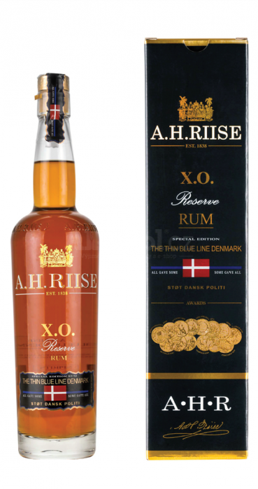 A.H.Riise X.O. Reserve The Thin Blue Line Denmark 0,7l 40%