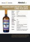 Transcontinental Rum Line Fiji 4y 2014 0,04l 48%
