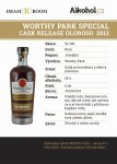 Worthy Park Special Cask Release Oloroso 2013 0,04l 55%